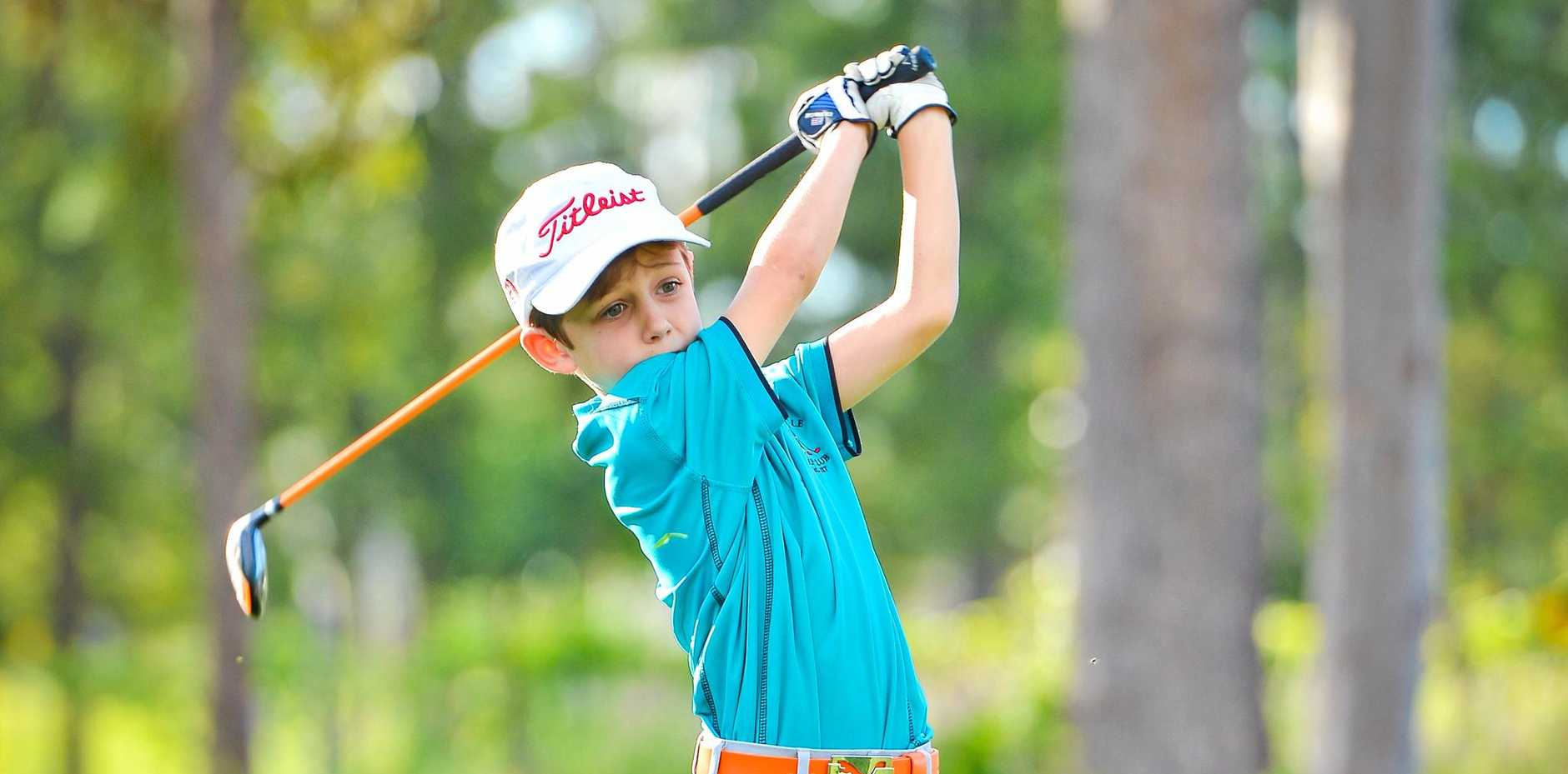 THE NEXT JASON DAY? Miriam Vale youngster Cody Anderson, 7, has just been selected to play for Australia in the US in July.