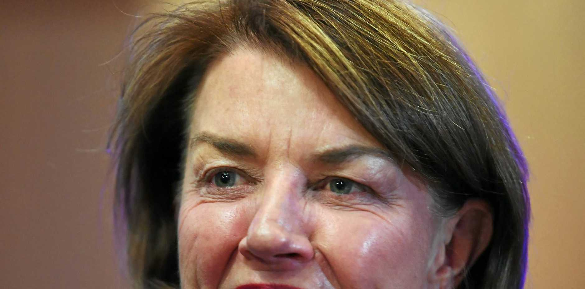 PUBLIC MOUTHPIECE: Australian Bankers' Association CEO and former Queensland Premier Anna Bligh at Australian Federal Treasurer Scott Morrison's post-budget National Press Club.