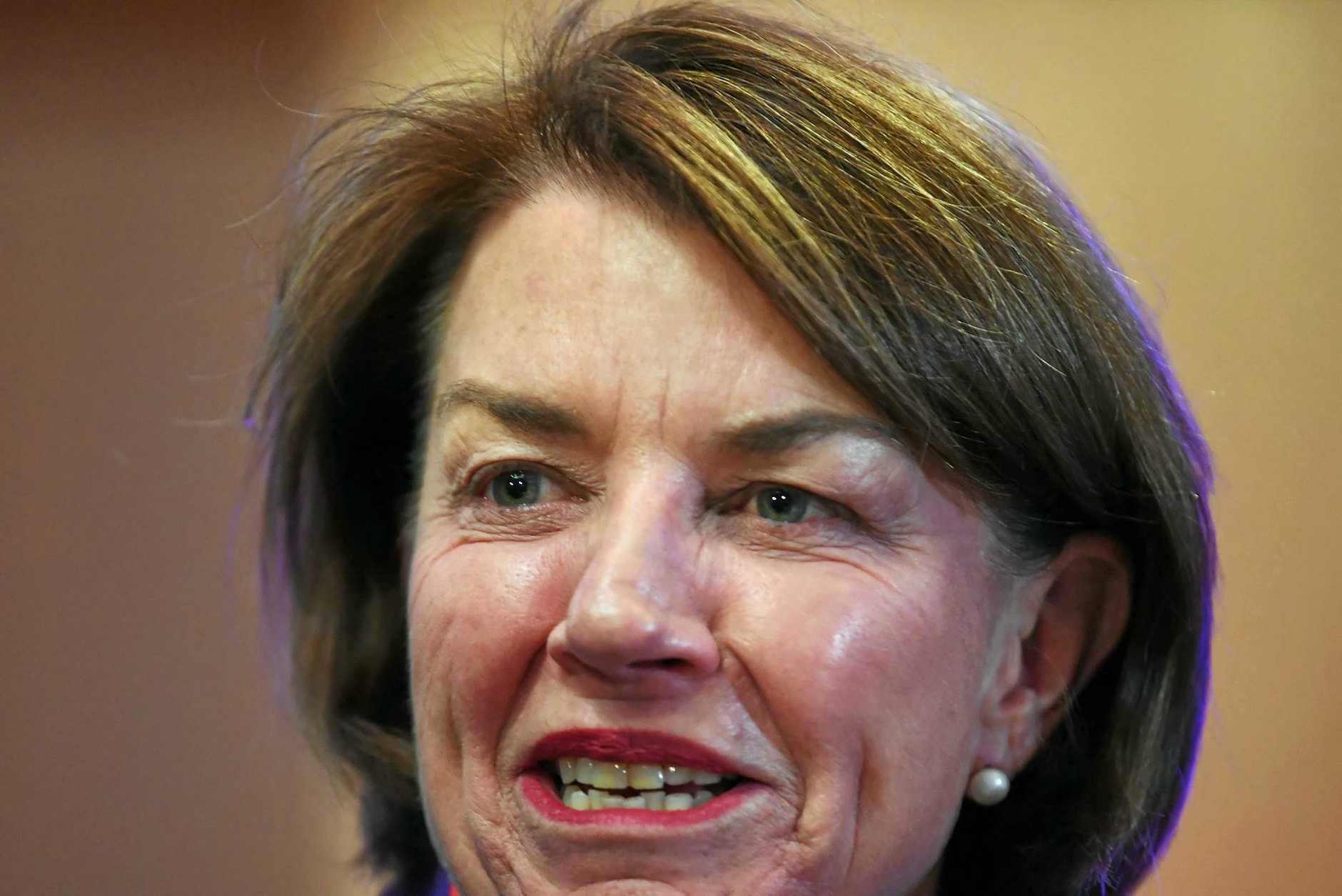 PUBLIC MOUTHPIECE: Australian Bankers' Association CEO and former Queensland Premier Anna Bligh at Australian Federal Treasurer Scott Morrison's post-budget National Press Club.