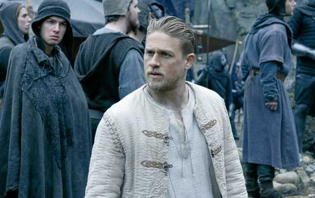 Charlie Hunnam in a scene from the movie King Arthur: Legend of the Sword.
