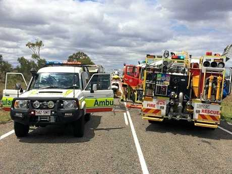 CQ Rescue were called to the scene of a two-vehicle crash 40km west of Collinsville, last November.