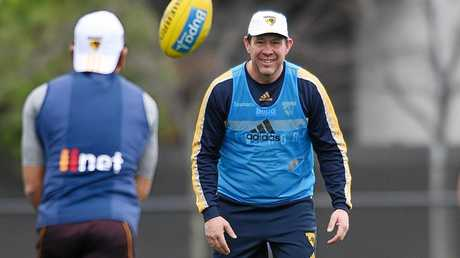 Assistant coach Brett Ratten during training at Waverley Park in Melbourne