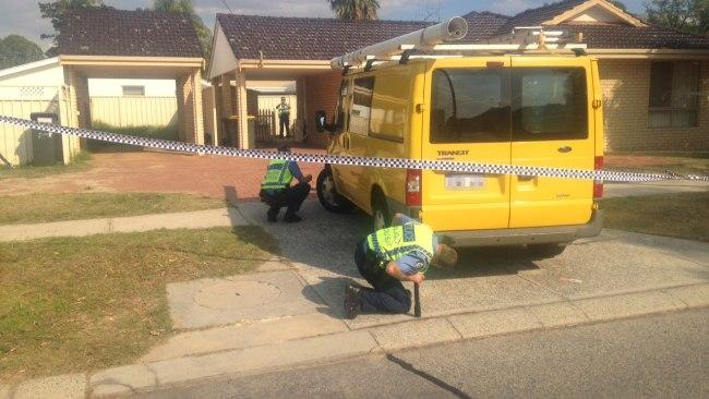 A baby is in hospital after being run over in the driveway of a Perth home.