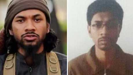 Australian Isis recruiter Neil Prakash before and after his arrest by Turkish border guards.