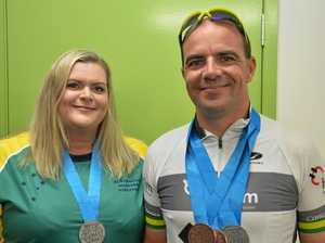 COUPLE GOALS: Husband and wife duo win big at Masters Games