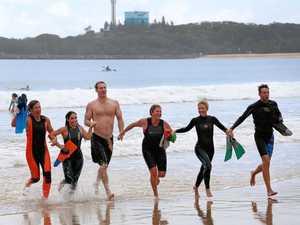Brave, dedicated teachers hit ocean for gruelling 11km swim