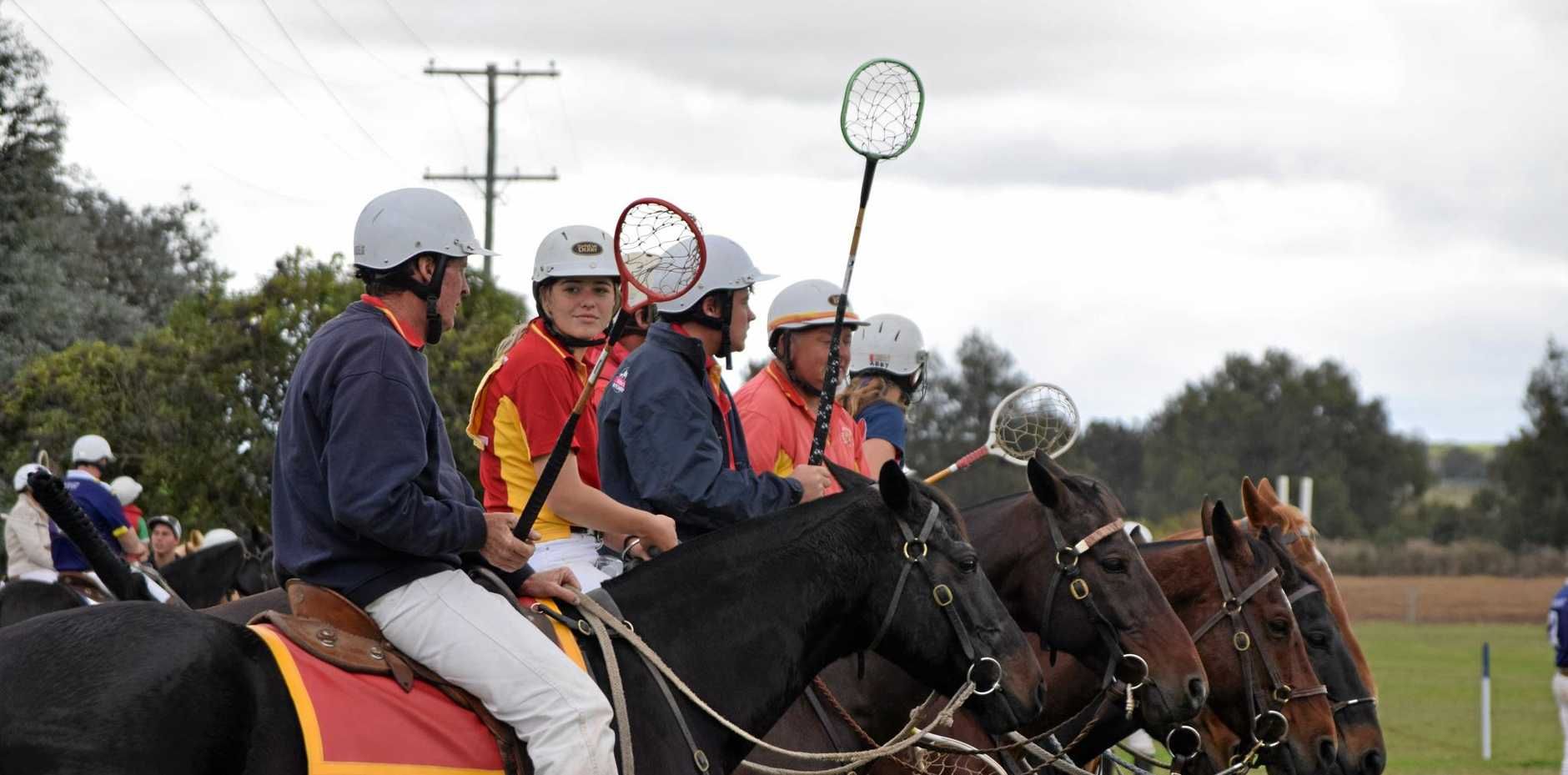 On the sidelines at the Killarney Polocrosse Carnival.