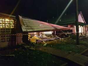 Car destroys pub