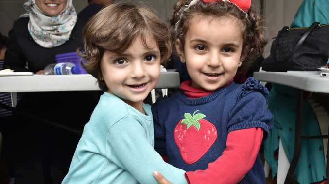 Aseel Almrafee and Leen Alturk. Open Day at Toowoomba Mosque. May 2017