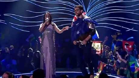 Jamala's Eurovision performance hit bum note after streaker flashed