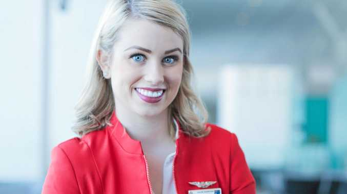 Chloe Markham is the only Australian on board the Air Asia cabin crew.