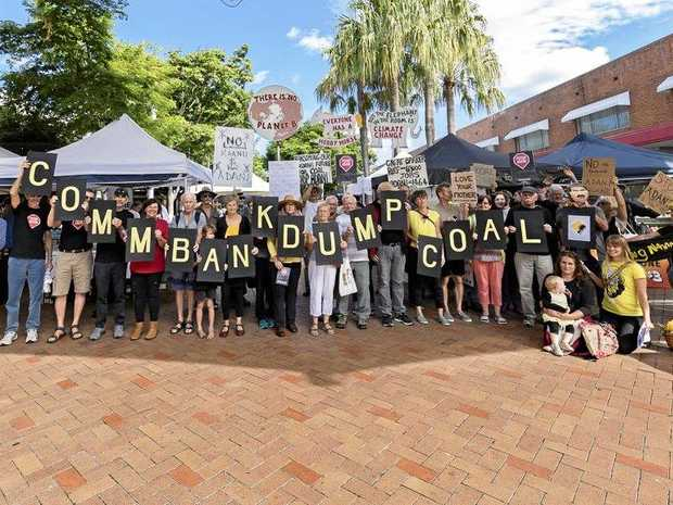 The Coffs Coast Climate Action Group protests in Coffs Harbour CBD.