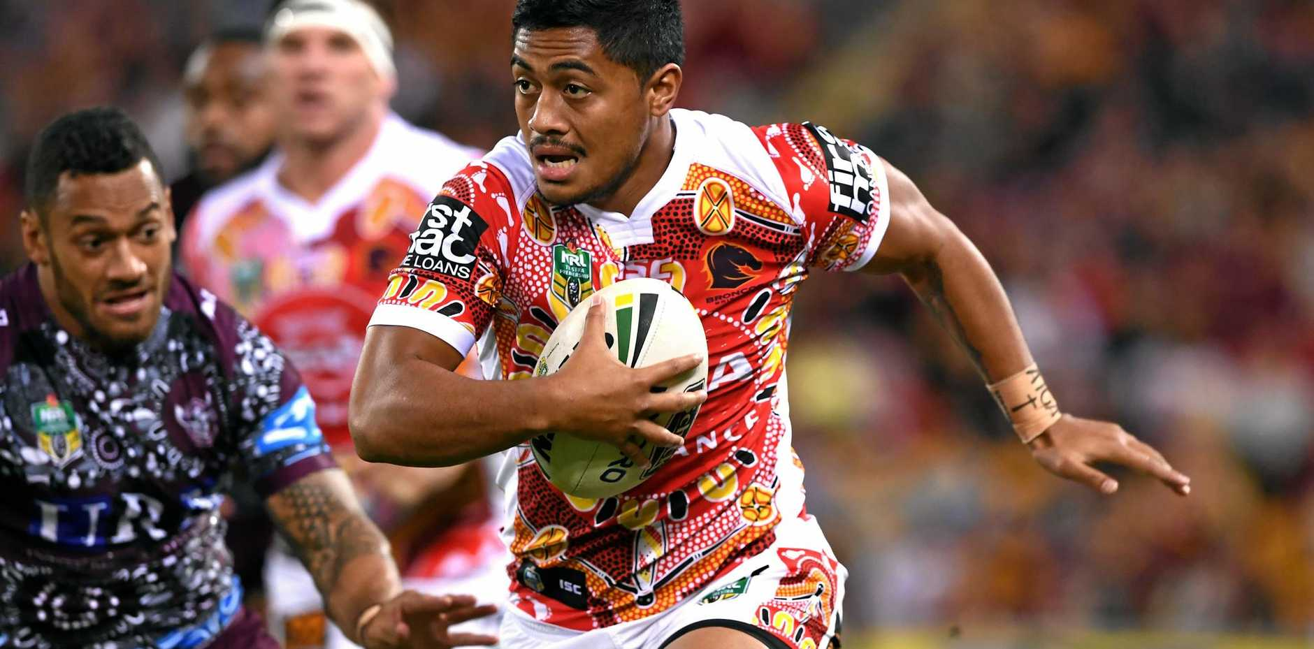 Anthony Milford in action for the Broncos against Manly.