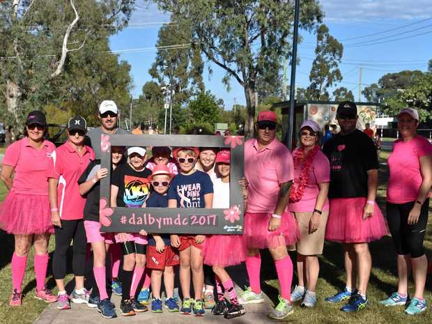 MOTHER'S DAY: One of the largest teams in the 2017 Dalby Mother's Day Classic, Taylors Teriffic Tutu Team.