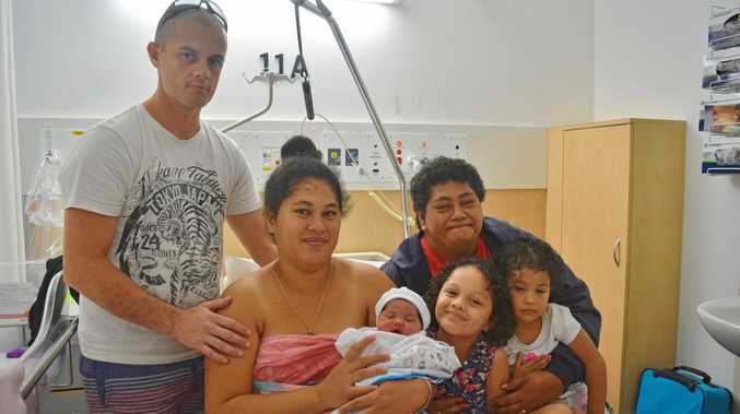 GROWING FAMILY: Parents Vance Kauri and Corriner Meti, sibilings Clarissa (5) and Catalaya (2) and grandmother