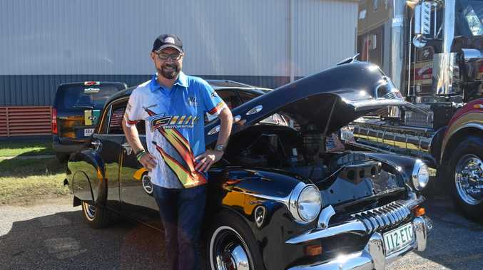 John Bowe came to the Mackay Motor Show, signing autographs on Saturday and Sunday.