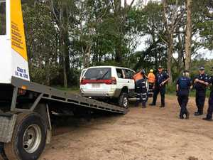 Police pull stolen car from river