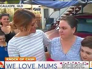 Watch Calliope mum's incredible reaction to $10K surprise