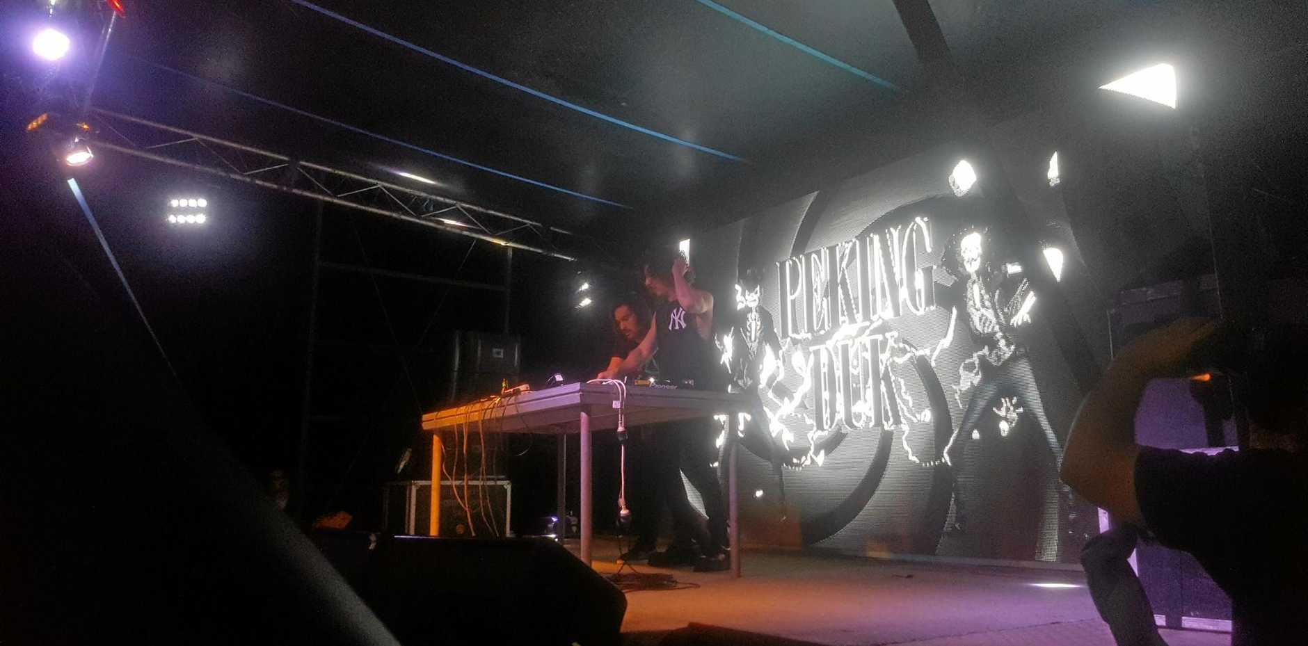 Peking Duk belt the bangers at the Allenstown Hotel on Friday night to a 1100-strong crowd.