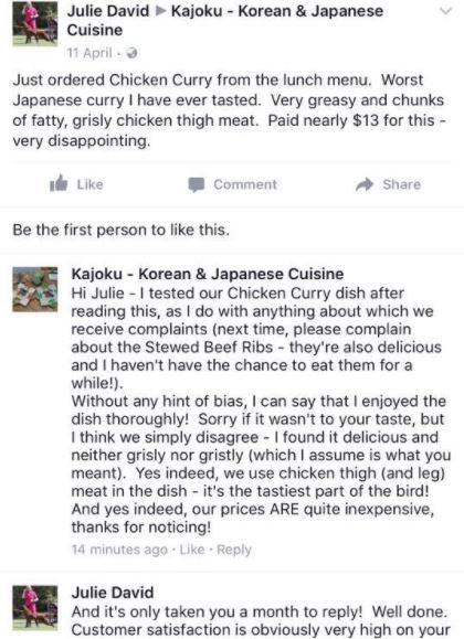 Kajoku response to complaint.