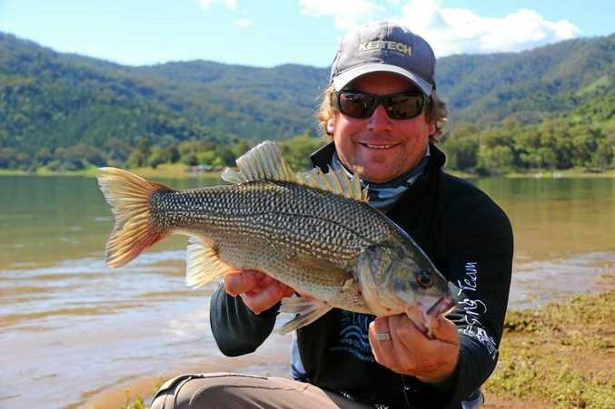 BASS HUNTER: Nigel Middleton caught the largest bass of the tournament.