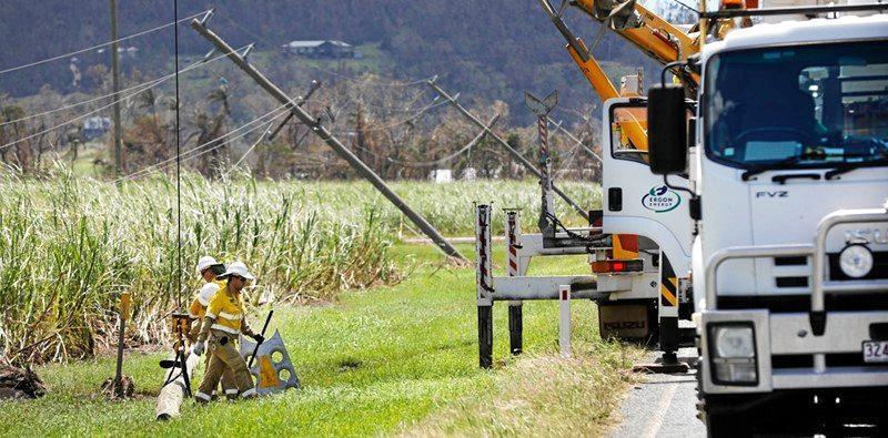 Ergon Energy has almost 160,000km of overhead powerlines across Queensland.