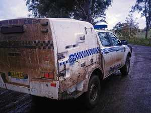 FAMILY RESCUED: Police vehicles tested by 4WD tracks