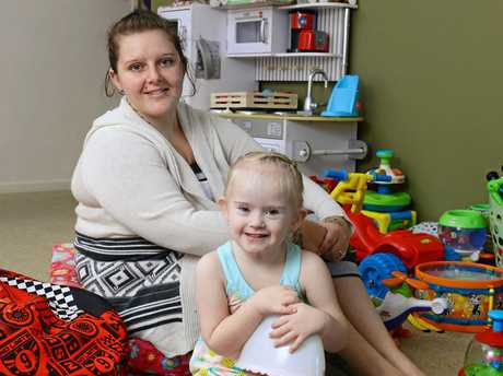 Jacinta Baker of Collingwood with her daughter Willow Baker, 4, who has down syndrome.