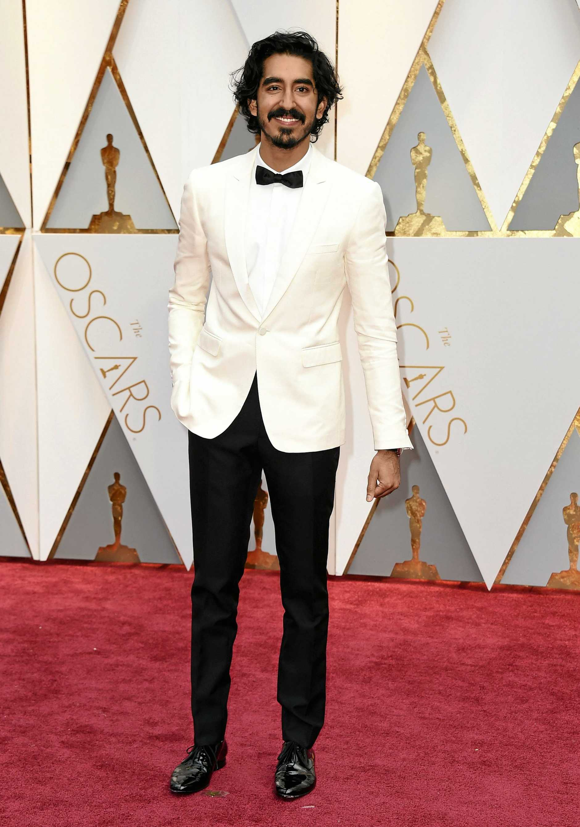 Dev Patel arrives at the Oscars on Sunday, Feb. 26, 2017, at the Dolby Theatre in Los Angeles.