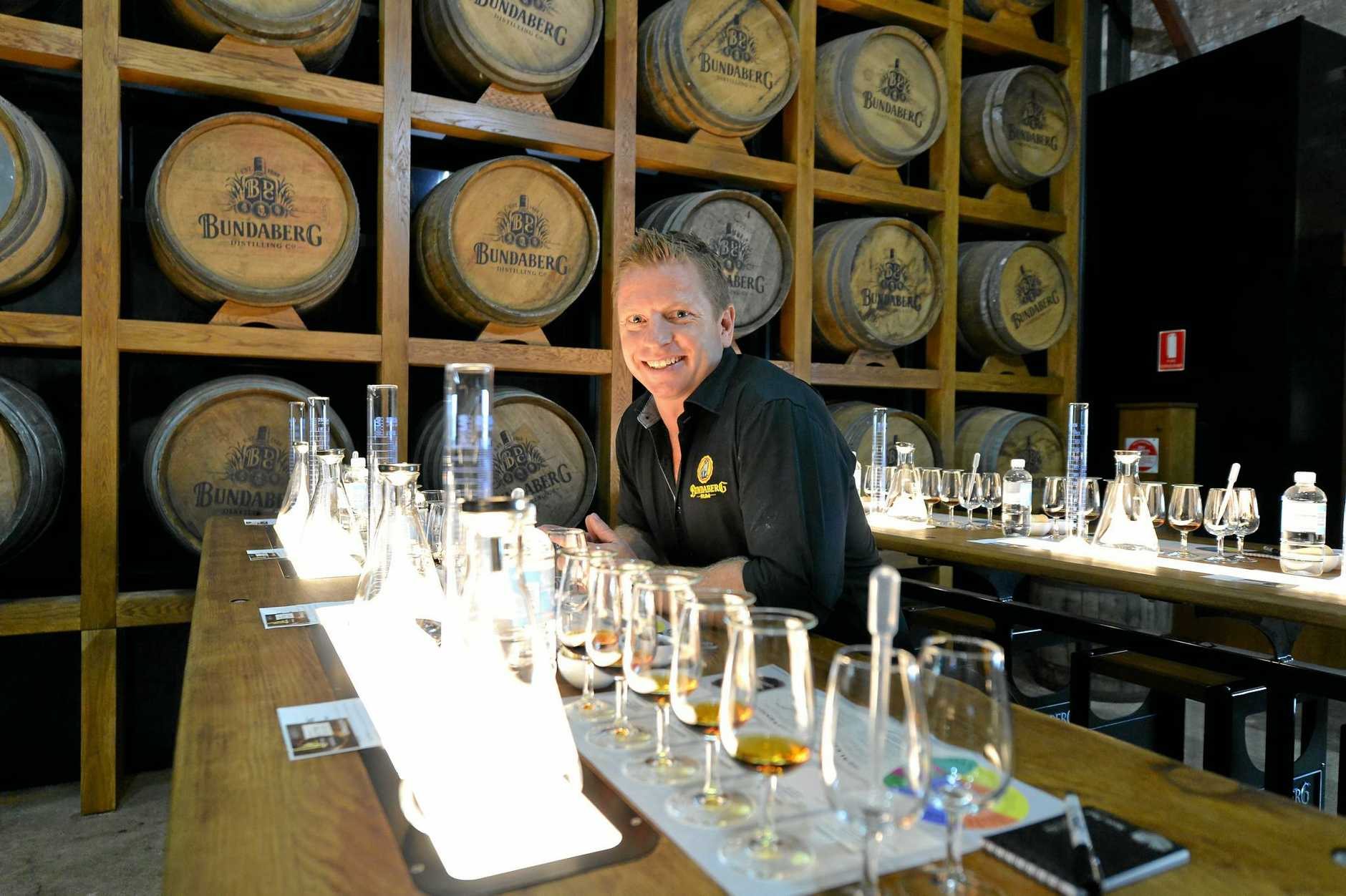 ONE OF A KIND: Duncan Littler is marketing Bundaberg Rum's unique Blend Your Own Rum Experience at the event.