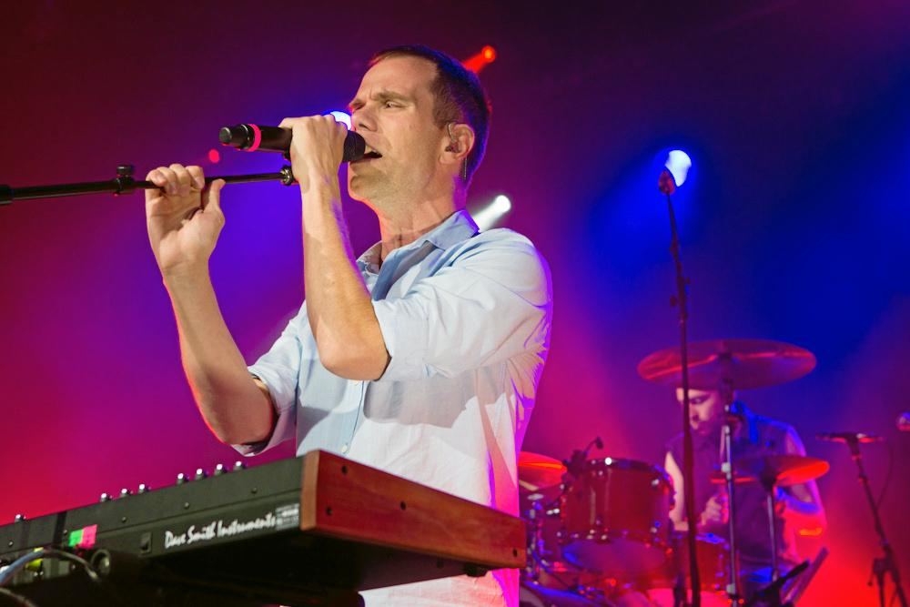 Julian Hamilton of The Presets performing at The Tivoli in Brisbane.