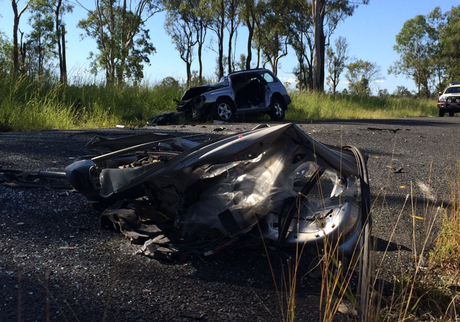 One man has died and an elderly woman has been airlifted to hospital following a crash at Tiaro on Monday morning.