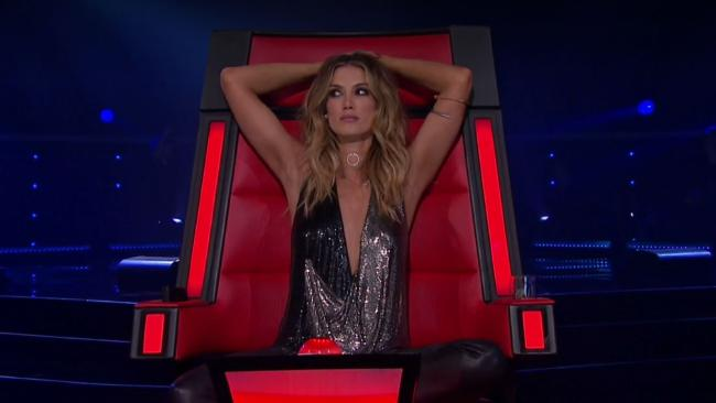 Delta Goodrem was not impressed with an audition on The Voice.