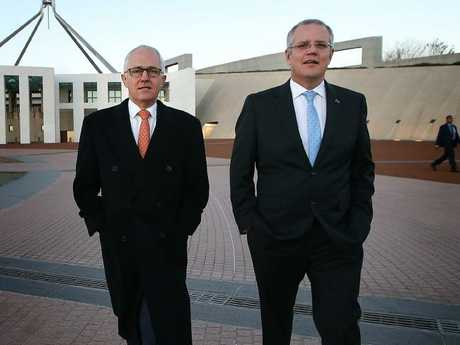 Malcolm Turnbull with Treasurer Scott Morrison.