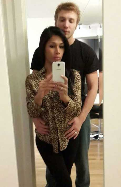 Facebook pictures of Marcus Volke and Mayang Prasetyo.
