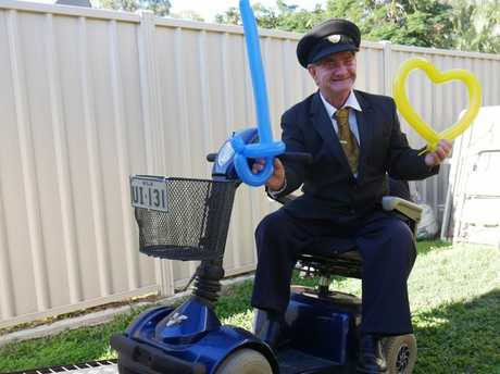 Ian Dinte has organised for free transportation for those who need the aid of a mobility scooter, to and from the Fraser Coast Show.