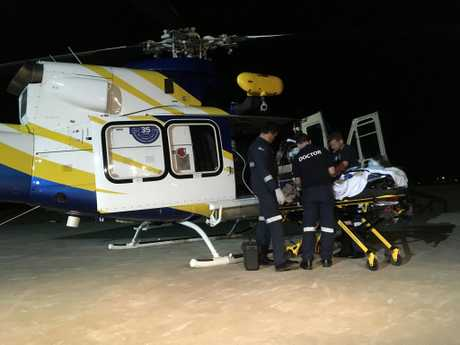 An 11-year-old girl was airlifted to the Lady Cilento Children's Hospital last night with head injuries after being hit by a car.