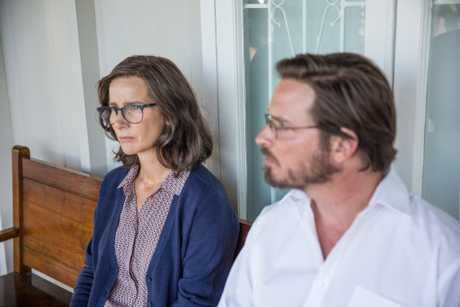 Rachel Griffiths and Aden Young in a scene from the movie Don't Tell.