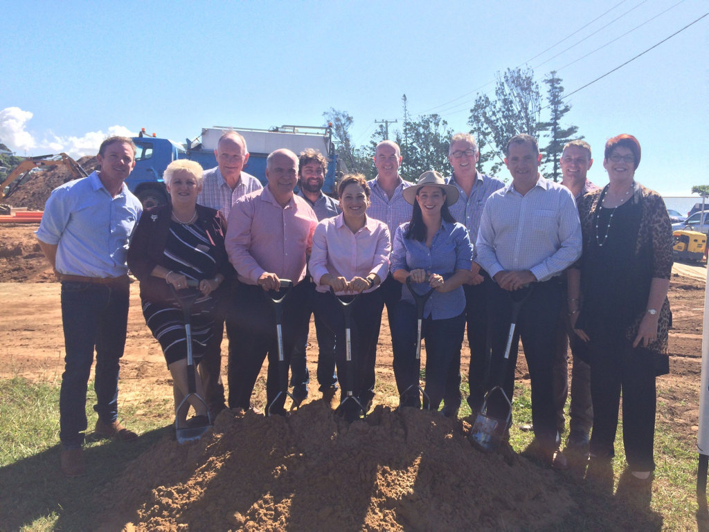 The sod turning of the new Yeppoon Lagoon.