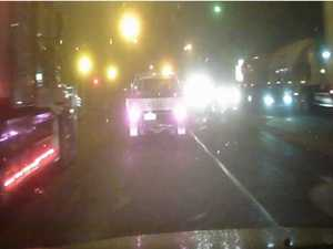 VIDEO: Truck runs red light: Dangerous or necessary?