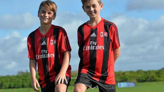 Mackay's Brandon Mayne and Drew Bekkeli are Italy bound for the Sardinia Cup Soccer Tournament as part of the AC Milan Sydney Academy Under 11 Squad.