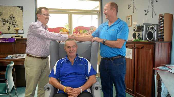 WORKING TOGETHER: Proserpine Nursing Home general manager Peter Hill, nurse Garry Smith and Wilmar representative Danny Van der Berg.