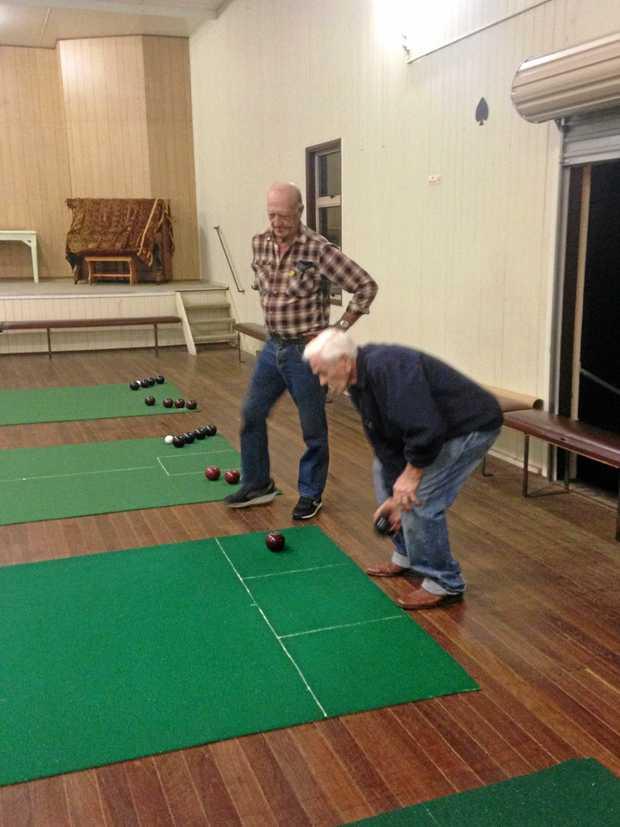 LINE UP: John Booth & John Myles on the mats.