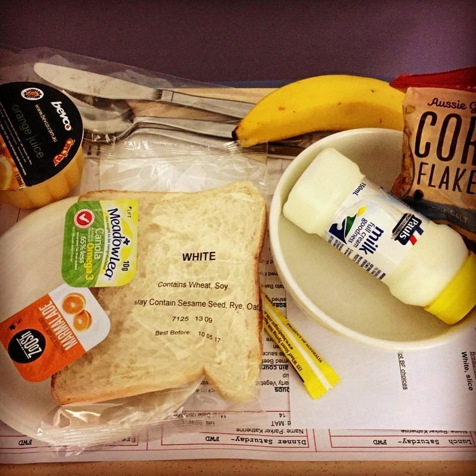 Cindy O'Meara has slammed this breakfast served at the Sunshine Coast University Public Hospital.