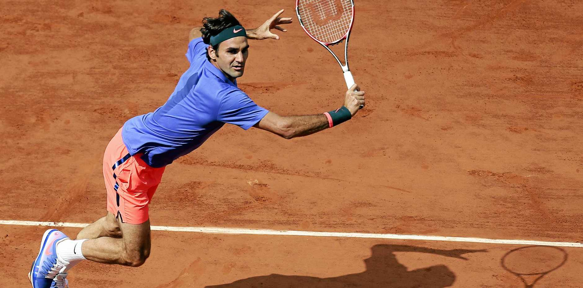 Roger Federer in action during the 2015 French Open in Paris.