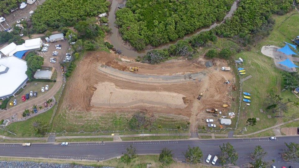Work on the Yeppoon Foreshore is progressing with works at the old hospital site complete. Turf and site rehabilitation is now underway with the site fencing to be removed shortly. Major works in the area are scheduled to start next year on the Lagoon Pool precinct.