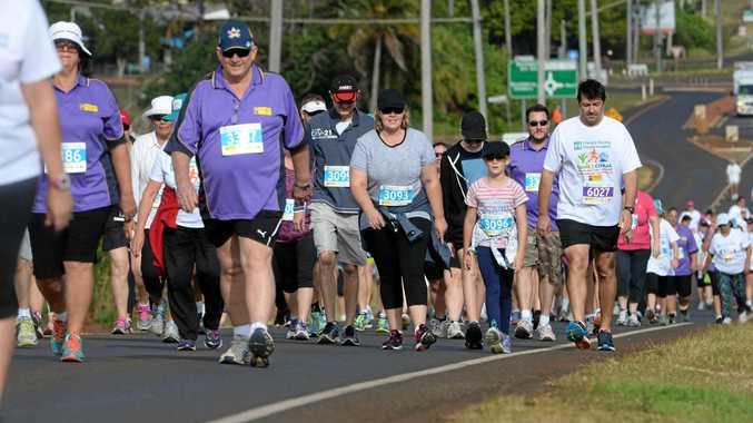 FUN RUN: Participants in 2016 Cane2Coral from Bundaberg to Bargara.