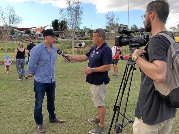 Scott Blaney - QLD State Sales Manage r being interviewed by Fox Sports.