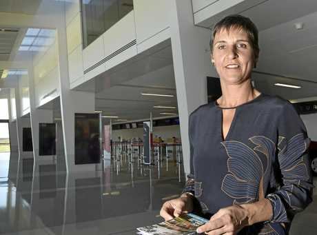TOURIST ATTRACTION: Architect Stephanie Keays launched this year's Toowoomba Open House yesterday at Wellcamp Airport.