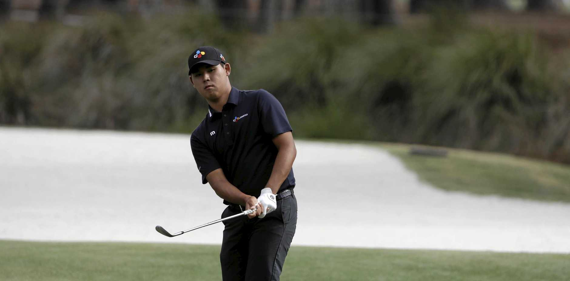 Si Woo Kim, of South Korea, during the third round of The Players Championship.